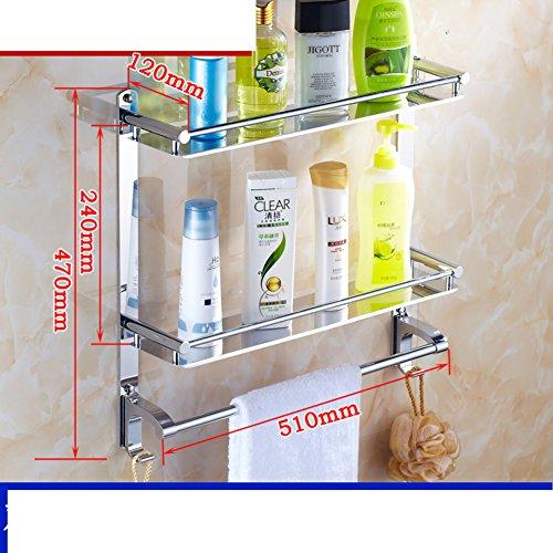 [Scaffale da bagno]/Salviette/Montaggio a parete in acciaio inox/Bagno bagno bagno (A / V Per Montaggio A Parete Sistema)