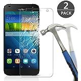 Huawei Ascend G7 Cristal Templado, Ashleyoo [2 Unidades], Cristal Vidrio Templado Protector Huawei Ascend G7 - [Ajuste Perfecto] [Ultra Resistente a Golpes y Rayado] [Alta Transparencia] [Sin burbujas] [Dureza de Grado 9H] - protector pantalla Huawei Ascend G7