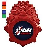 Extreme Foam Roller – Extrem dichte Premium Muskel Faszienrolle fördert Muskelfaser- und Triggerpunktmassage (Feuerrot)