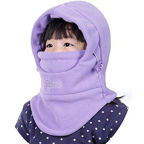 Ma87 passamontagna per bambini in pile antivento, scaldacollo invernale, multicolore, taglia libera