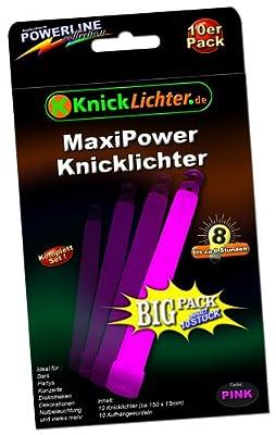 10 Knicklichter PINK! MAXI POWER! Extra dick! 150 x 15 mm! Jetzt im günstigen BIG Sparpack! Neueste Generation. Unter eigenem Label produziert. von KnickLichter.de - Lampenhans.de