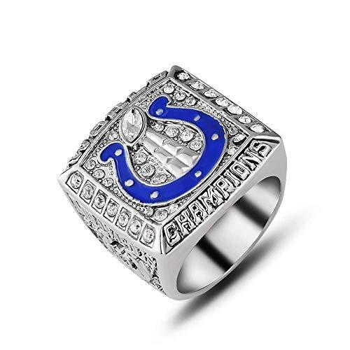 G-J Rings Sports Fans Collection Champion Rings Herren-Gedenkringe High-End-Legierungsringe, Silber, 11