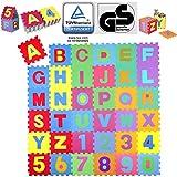 KIDUKU® Puzzle Tapis Mousse bébé, 86 pièces, Tapis de Jeu très résistant pour Enfants, Alphabets & Chiffres