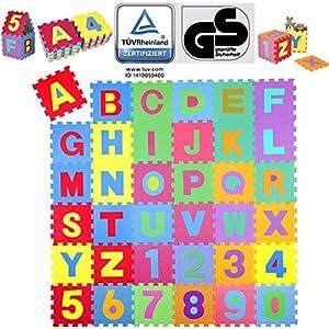 KIDUKU® 86 teilige Puzzlematte TÜV Rheinland Zertifiziert Kinderspielteppich...