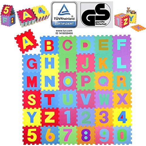 KIDUKU 86 teilige Puzzlematte TÜV Rheinland Zertifiziert Kinderspielteppich Spielmatte Spielteppich...