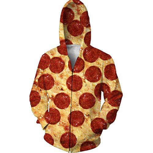 Ohio Print T-shirt (Unisex 3D Full Printed Pizza Sweatshirt T-Shirt, Hoodies, Trainingsanzüge Jogginghose Cool Men Hoodies M)