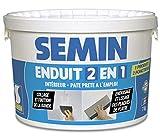 Semin A06057 Enduit 2 en 1 Multifonctions - Joint et Lissage de la Plaque de Plâtre, Intérieur, Seau de 7 kg