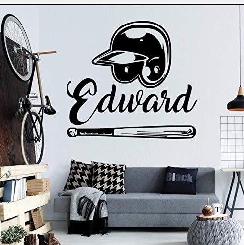 Zybnb Wandaufkleber Design Yourself Baseball Home Dekoration Berühmte Sport Removable Witwen Tür Aufkleber Wandbild57X63 Cm