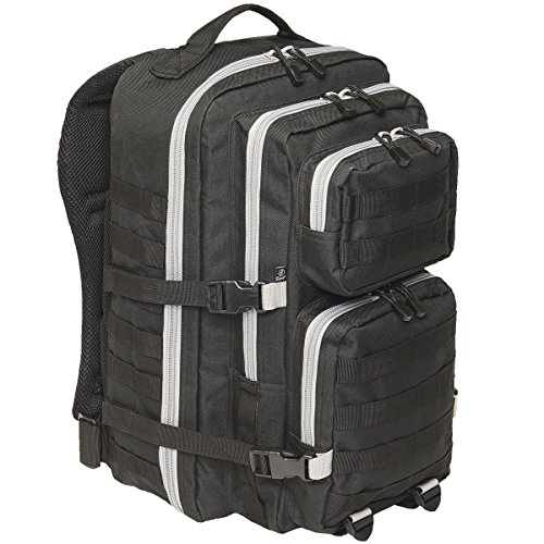Brandit US Cooper Large Rucksack schwarz/grau (Clam öffnen)