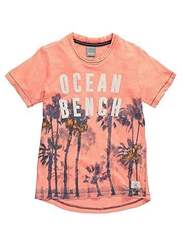 Bench Jungen T-Shirt Palm Ocean Tee Orange (Soft Neon Coral-As Swatch OR11200), 164 (Herstellergröße: 13-14)