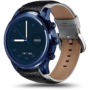 LEM5 Pro Smartwatch Android 5.1 Quad Core 1.3 GHz 2 GB / 16 GB 2 G / 3G Smartwatch WiFi Podomètre Bluetooth Nano SIM WIFI GPS (Bleu)