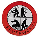 Plüschkissen FEUERWEHR mit Signet Retten Löschen Bergen Schützen 30cm Durchmesser Kissen