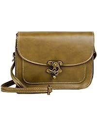 PU Leather Stylish Sling Bag / Purse For Women & Girls Color - Khaki (1228)
