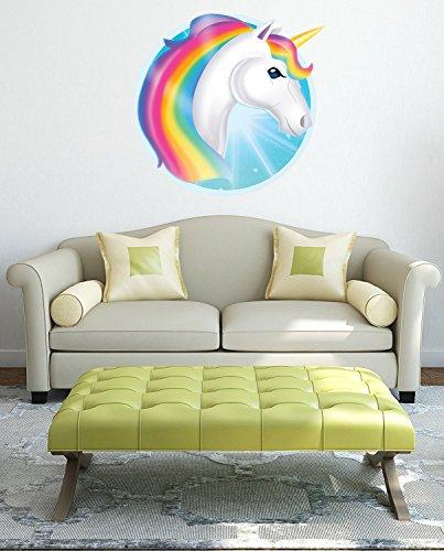 Chicbanners Emoji Emoticon Einhorn Homosexuell Symbol, Wandkunst, Hochglanz, selbstklebend, Vinyl, 330 mm x 330 mm