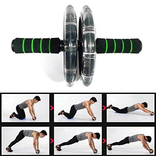 ZHANGYUSEN Double-Wheeled 200 mm Roue Abdominale Formateur Musculaire Abdominale Silencieux Sport Roller Fitness Outil Accessoire Exercice
