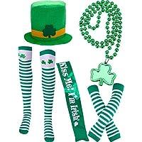 5 Piezas de Accesorios de Disfraz de Día de San Patricio Incluye Sombrero  Verde Calcetines a 4d8397d77e4