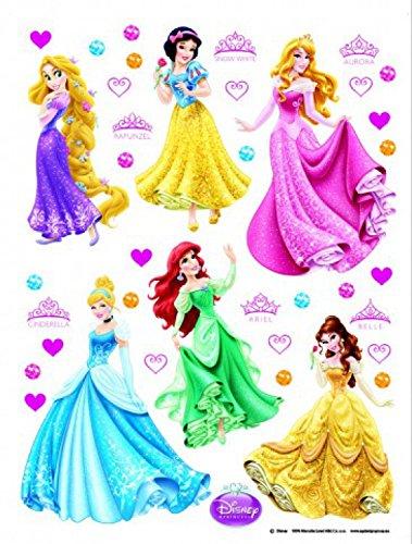 1art1 75259 Disney Prinzessin - Rapunzel, Schneewittchen, Aurora, Cinderella, Arielle, Belle Wand-Tattoo Aufkleber Poster-Sticker 65 x 42 cm (Disney Tattoo Prinzessinnen)