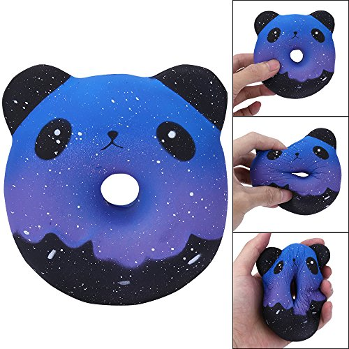 Wokee Galaxy Panda Donuts Kawaii,Stress Relief Spielzeug, Kawaii Creme duftenden langsam,Super langsames Steigendes Kind Spielzeug