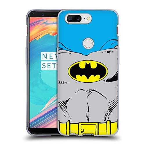 Head Case Designs Offizielle Batman DC Comics Klassische Kostueme Logos Soft Gel Huelle kompatibel mit OnePlus 5T