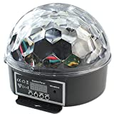 RPGT Disco LED Lichteffekt Discokugel Magic DMX512 RGB Projektor für Weihnachten, Xmas, Party, Festival Deko.