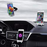 Best Car Phone Holder, 3 in 1 Universal Cell Phone Car Cradle & Mount Fits iPhone & Other Popular Brands - 3 Mounting Options - 360 Degree Rotation - A Perfect Gift for a Great Price.