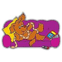 SkyBug Dog Relax Time Cartoon Bumper Sticker Vinyl Art Decal for Car Truck Van Wall Window (24 X 16 cm)