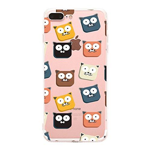 Custodia iPhone 7 plus Qissy® TPU Cover iPhone 7 Plus 5.5 pollici Custodia Bumper Morbida Crystal Clear Silicone elefante per Apple i Phone 7 Plus 2