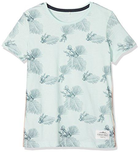 NAME IT Jungen T-Shirt Nkmjamal SS Top, Mehrfarbig (Dusty Aqua), 134 (Herstellergröße: 134-140)