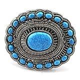 Huabola nativo americano occidentale fibbia per gli uomini blu fibbia della cintura di pietra