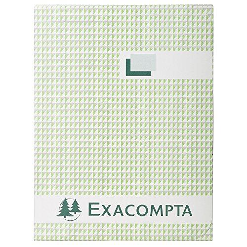 Exacompta 415E Geschäftsbuch DIN A4 schwarz kariert 110 g/qm Inh. 500 Blatt