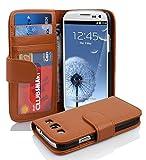 Cadorabo DE-100147 Samsung Galaxy S3 / S3 NEO Handyhülle mit 3 Kartenfächern - Case Cover Schutzhülle Etui Tasche Book Klapp Style Braun