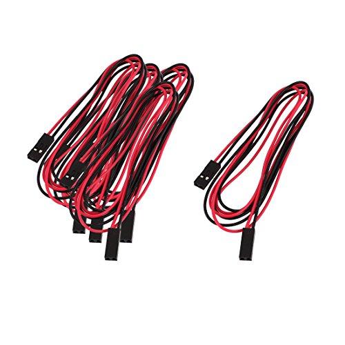Jtag Jig (Aexit 5Stk Doppel Ende 2P Stecker Draht 70cm Schwarz Rot Y-Stromkabel JST Kabel)