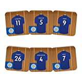 Official PERSONALISED Leicester City FC Dressing Room Coasters 6 Pack - FREE PERSONALISATION