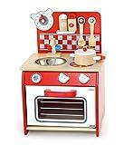 Unbekannt Küche-Bär / Mini Spielküche in Rot mit Zubehör aus Holz / Gewicht: ca. 3,5 kg / Maße: 28,5 x 23,5 x 42 cm - Arbeitshöhe: 24 cm / 3+