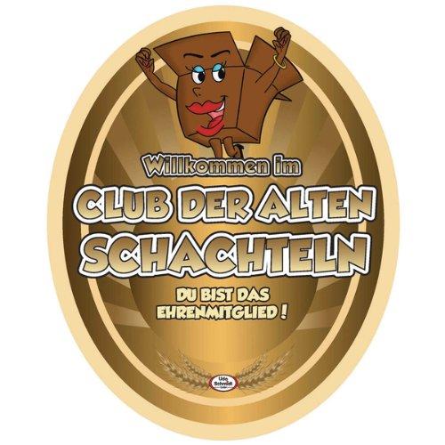 Club Bier (Aufkleber CLUB SCHACHTELN BIER Etikett Bierflasche selbstklebend Geschenk)