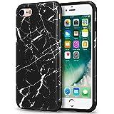 Mthinkor Funda iPhone 8 Funda iPhone 7 con Modelo Mármol Delgado Anti-arañazos Cubierta de la Funda Suave para iPhone 7 y iPhone 8 (Mármol Negro)