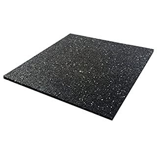 Invero® Anti-Vibration Universal Noise Reducing Rubber Mat for Washing Machine, Tumble Dryer, Dishwasher or other Household Appliances 600mm x 600mm