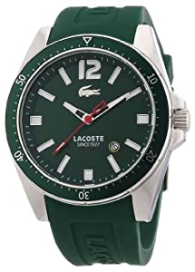 Reloj Lacoste 2010663 de cuarzo para hombre con correa de silicona, color verde de Lacoste