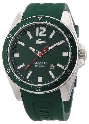Lacoste 2010663 - Reloj analógico de Cuarzo para Hombre con Correa de Silicona, Color Verde