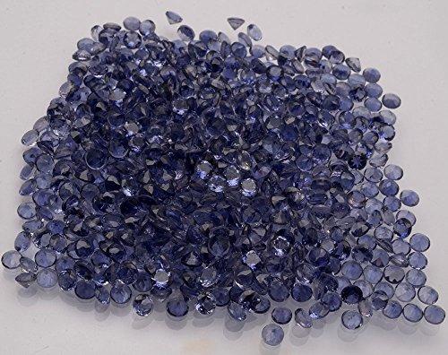 Be You Bleu Naturelle orissa indien Lolite AAA Qualité 1.75 mm Coupe Brillante Rond Caillou 10