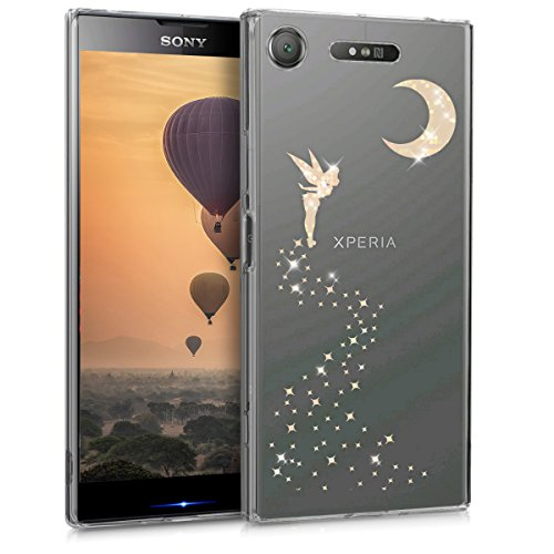 kwmobile Sony Xperia XZ1 Hülle - Handyhülle für Sony Xperia XZ1 - Handy Case in Rosegold Transparent