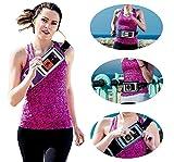 Navitech lila smartphone Lauf / Jogging Wasserdicht Sport Gürtel / Bund für die Archos 40 Neon