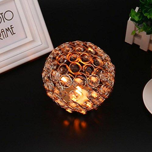 hunpta cristal té luz vela titulares/vela pantalla para boda small golden