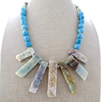 762f58ca2fc5 Collar de amazonita natural y jade azul