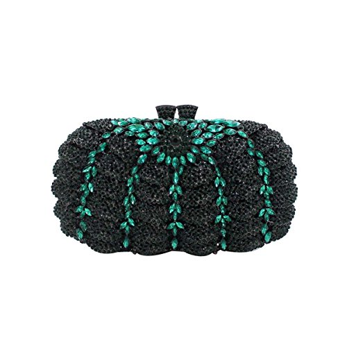 Delle Donne Borsa Del Diamante Di Alta Qualità Di Cristallo Evening Bag Green