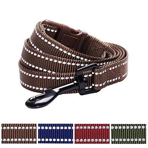 blueberry-pet-durable-3m-reflctive-dog-lead-150-cm-x-2cm-in-mahogany-brown-medium-leads-for-dogs-mat