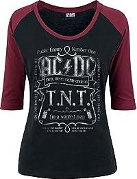 AC/DC T.N.T. Manches longues noir/bourgogne