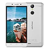 Ulefone Metal 5.0'' HD 4G Smartphone Android 6.0 MT6753 1.3GHz Octa Core Dual SIM Mobile Phone 3GB RAM+16GB ROM 8.0MP Back Camera 2.0MP Front Camera Smart Wake Touch ID Cellphone (Silver )