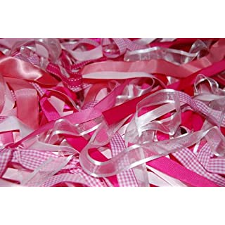 Assorted Pink Ribbon, Approx 25m Per Bag by Anycraft-UK