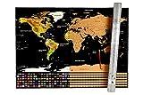 Luckys of Luke - Weltkarte - Rubbelkarte - Scratch off Map - für Globetrotter (Schwarz-Gold)